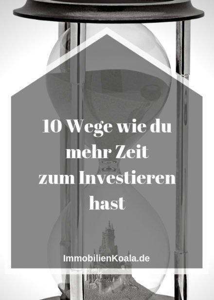 10 Wege wie du mehr Zeit zum Investieren hast